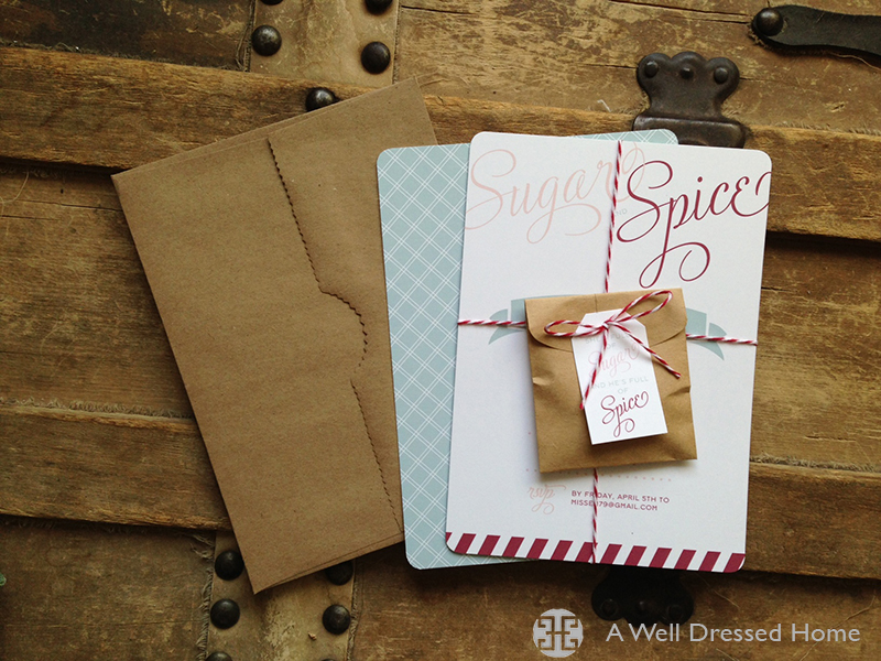 sugar and spice invites