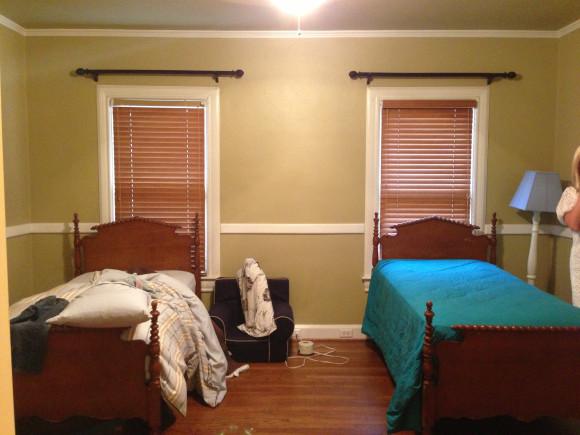 Reids room before