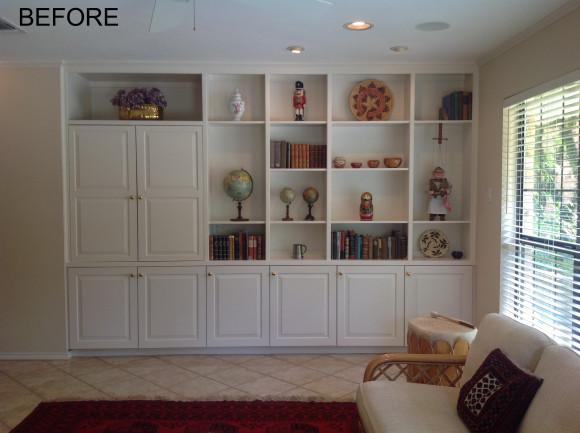 TV Bookshelf Before