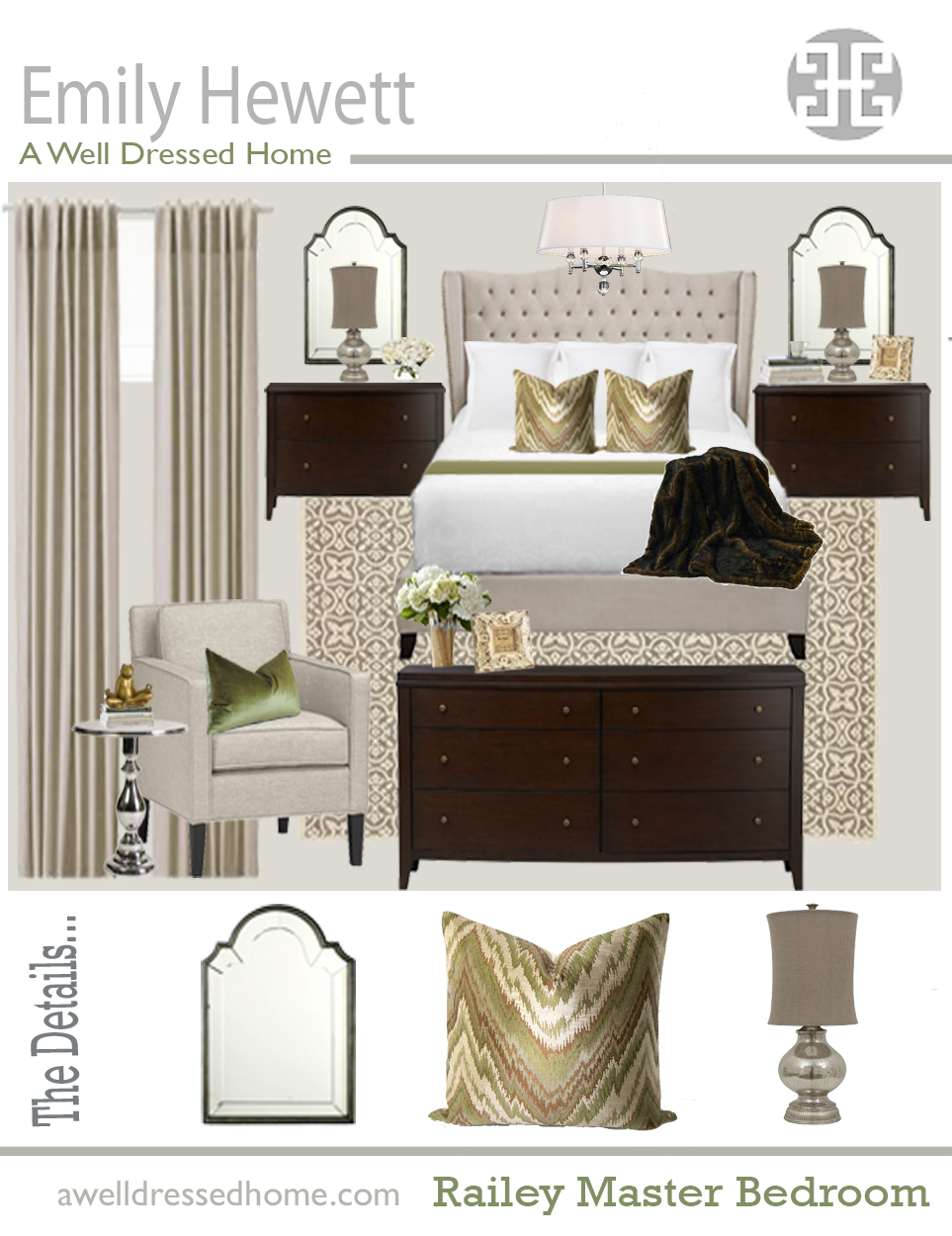 Railey Master Bedroom Design Board