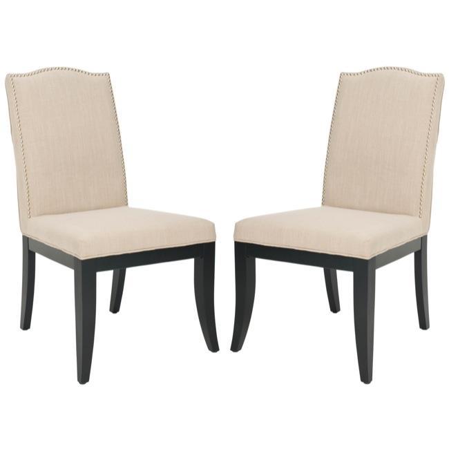 Laurent Sand Nailhead Side Chairs