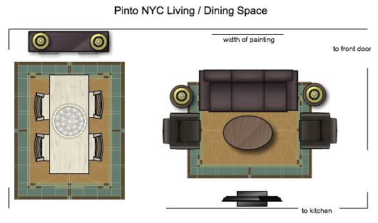 NYC Living Dining Floorplan
