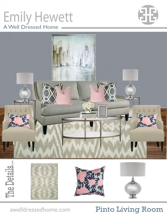 Pinto Living Room Online Design Board