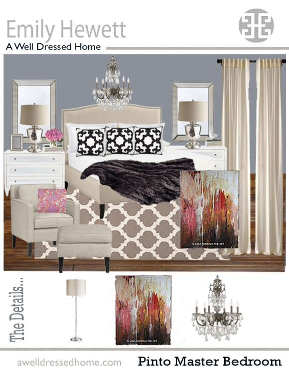 Pinto Master Bedroom Design Board