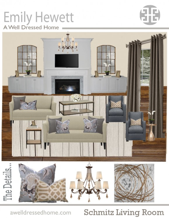 Schmitz Living Room Online Design Board