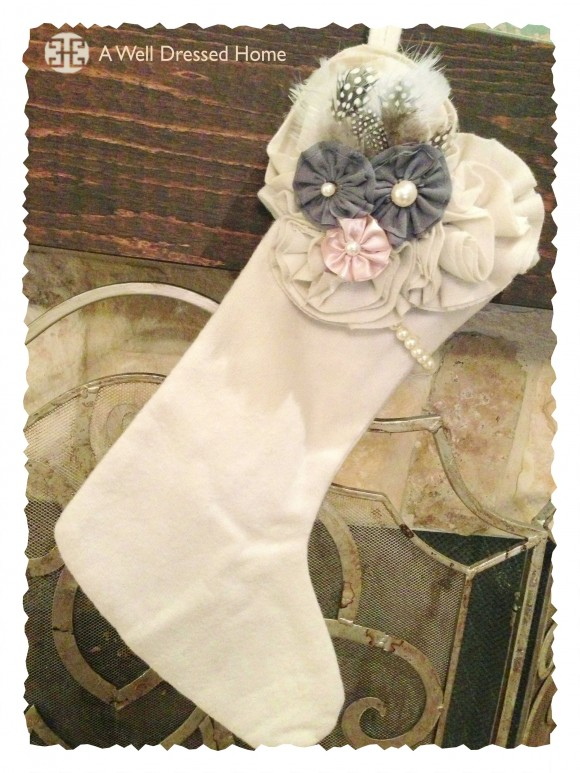 a well dressed home vintage stocking 1