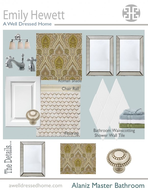 Alaniz Master Bath Design Board
