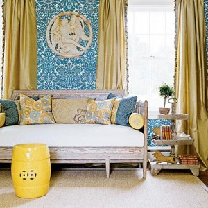 Yellow & Blue Room 2 - source decorpad.com