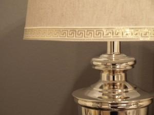 Lamp Shade with Greek Key Trim