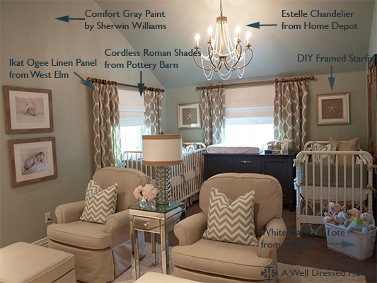 Twin\'s Nursery Specifications — A Well Dressed Home