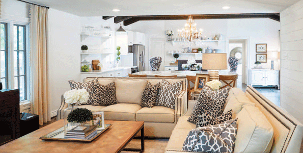 Animal print is a theme throughout the home. Designer Emily Hewett considers the prints a neutral.