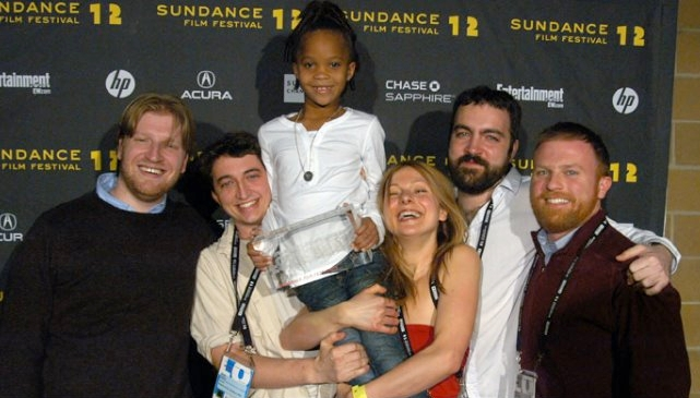 sundance film festival celebratory photo. beasts of the southern wild.