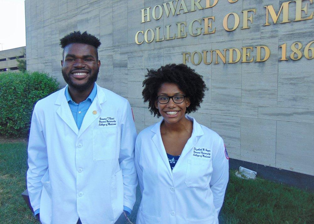 Bernard Ndedi and Elizabeth Hayes - VPs of Community Service