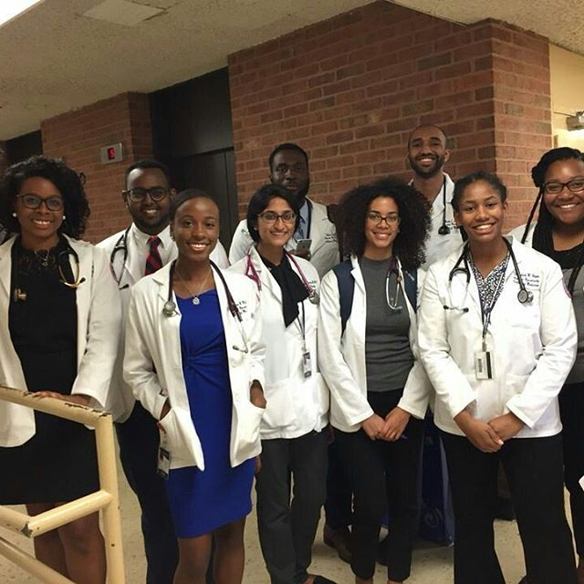 Group 1's first clinical exam done. One step closer in the path of a future physician. #hucm #hucm2020 #howarduniversity