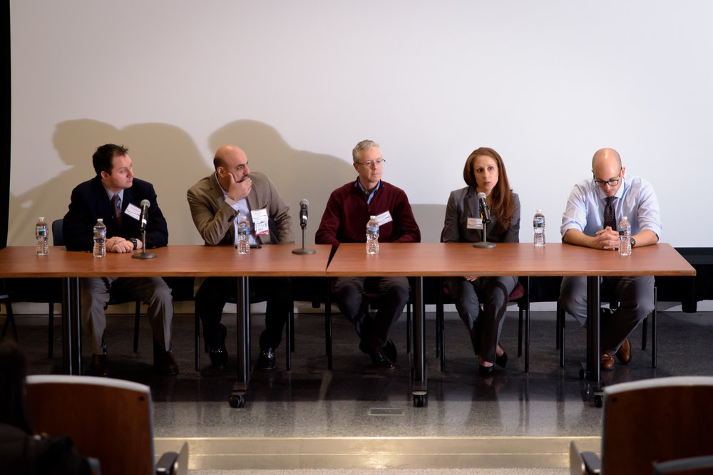 Q&A Panelists (left to right): Dr. John Cardella, Dr. Saher Sabri, Dr. Robert Liddell, Dr. Theresa Caridi, Dr. Marco Ertreo
