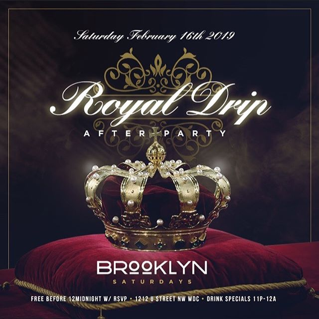 HOLD UP WAIT A MINUTE, YA'LL THOUGHT WE WAS FINISHED! We're not because the Drip doesn't stop at Formal. 😜😜😜 Your Litty Committee presents The Royal Drip After Party. If your coins are running low that's okay because it's FREE with RSVP ALL NIGHT and we got Drink specials ALL NIGHT. 🍾🍾🍾🍾🍾🍾🍾🍾🍾HUCM Queens 👑 don't be like Cinderella and end your night at 12!!! HUCM Kings we're gonna have a room full of beautiful women and top shelf drinks for the LOW! Don't be a peasant... Come out and party with Royalty! RSVP! RSVP! RSVP! —————— https://royaldripafterparty.eventbrite.com/