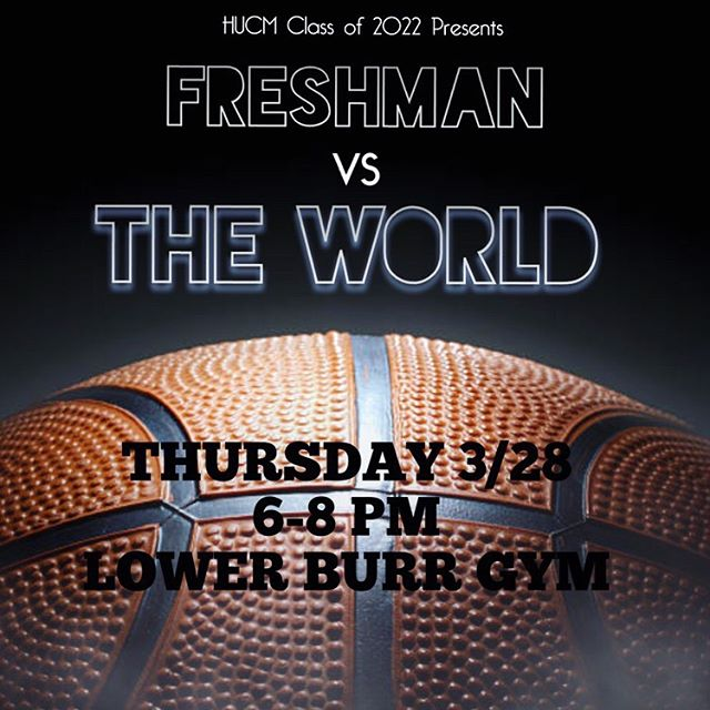 Freshman v. The World is back!  From the football field to the basketball court 🏀 Come out Thursday 3/28 6PM Burr Gym