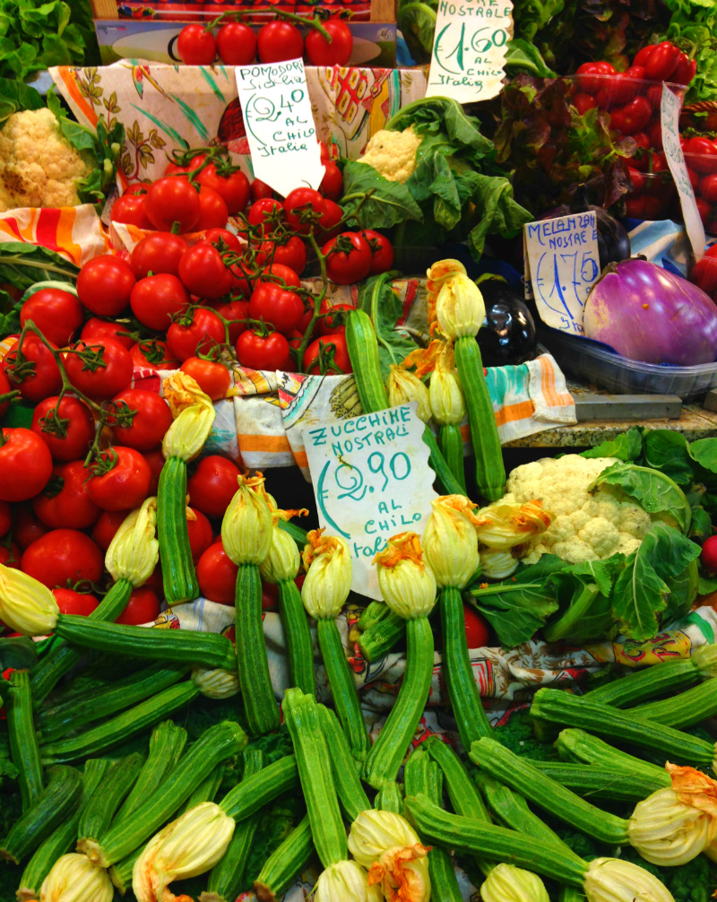 Colorful produce at Mercato Centrale