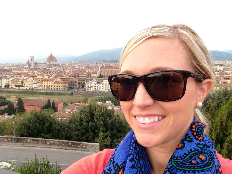 The amazing view of Firenze from the Piazzale Michelangelo