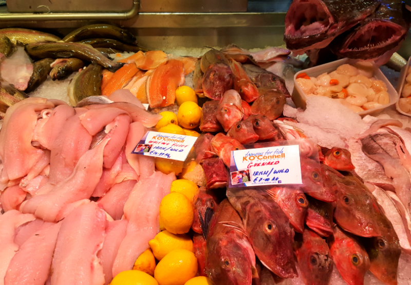 Fish at English Market Cork