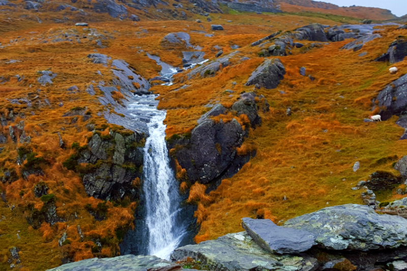 Waterfalls everywhere in Healy Pass