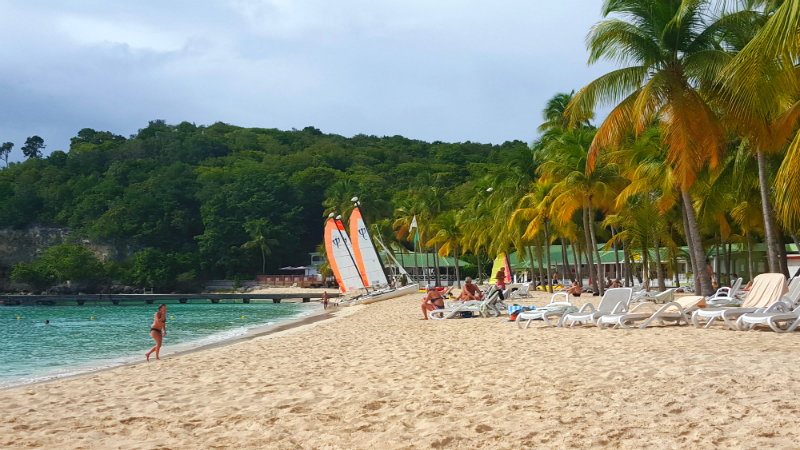 Sailboats are just one of the activities at La Plage Caravelle