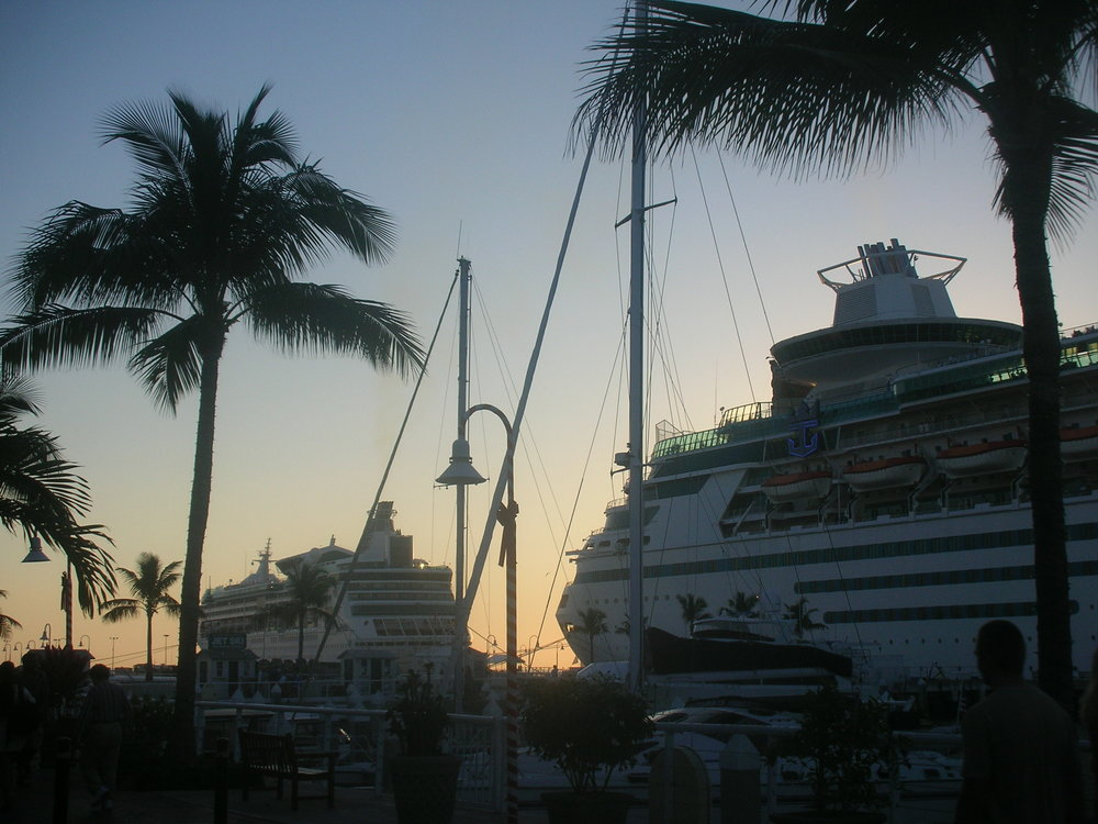 Cruise ships docked near Mallory Square