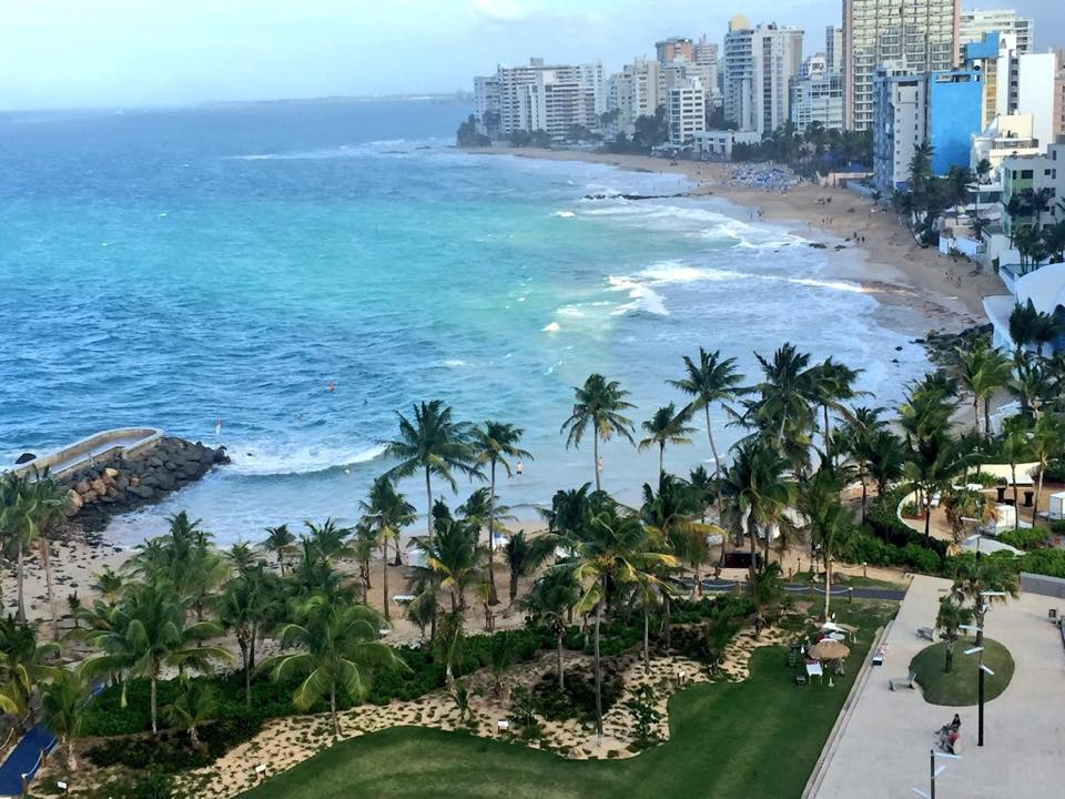 View from our room overlooking the Condado coastline