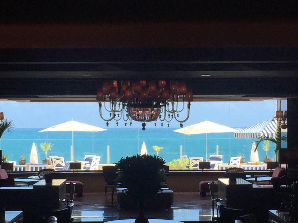 Views from the lobby of the Condado Vanderbilt hotel