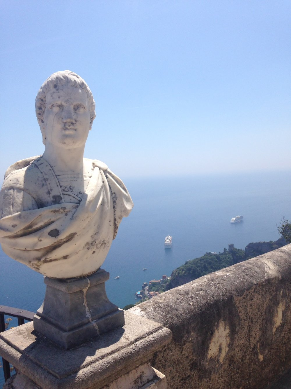 Looking down from the Villa Cimbrone in Ravello