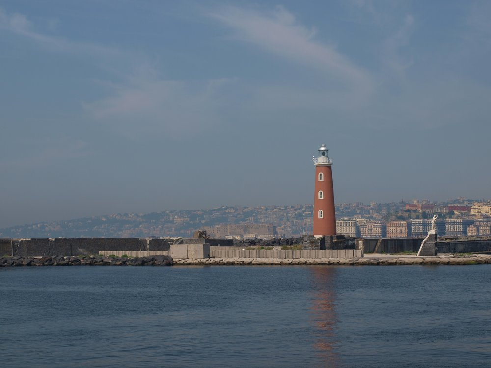Arriving by ferry to the city of Napoli