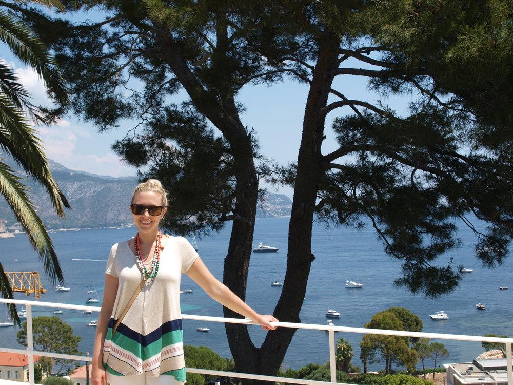 Jess admiring the views in Saint-Jean-Cap-Ferrat, France.