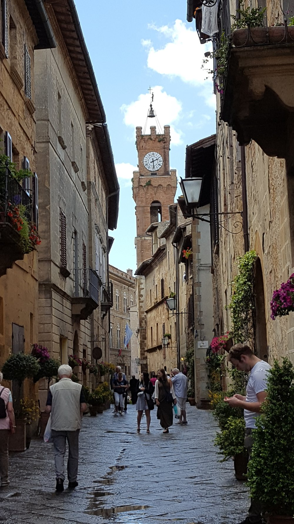 The streets of Pienza