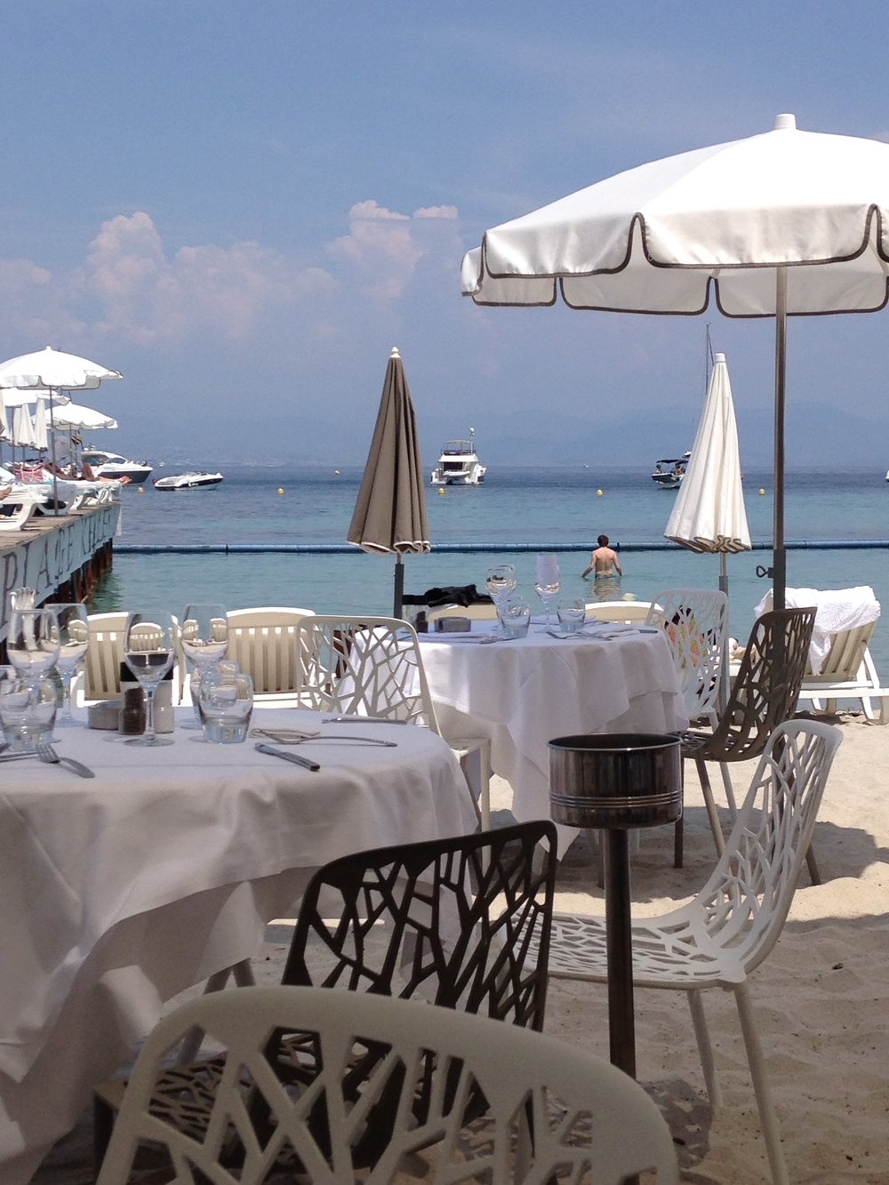 Lunch on Keller Plage, Juan les Pins