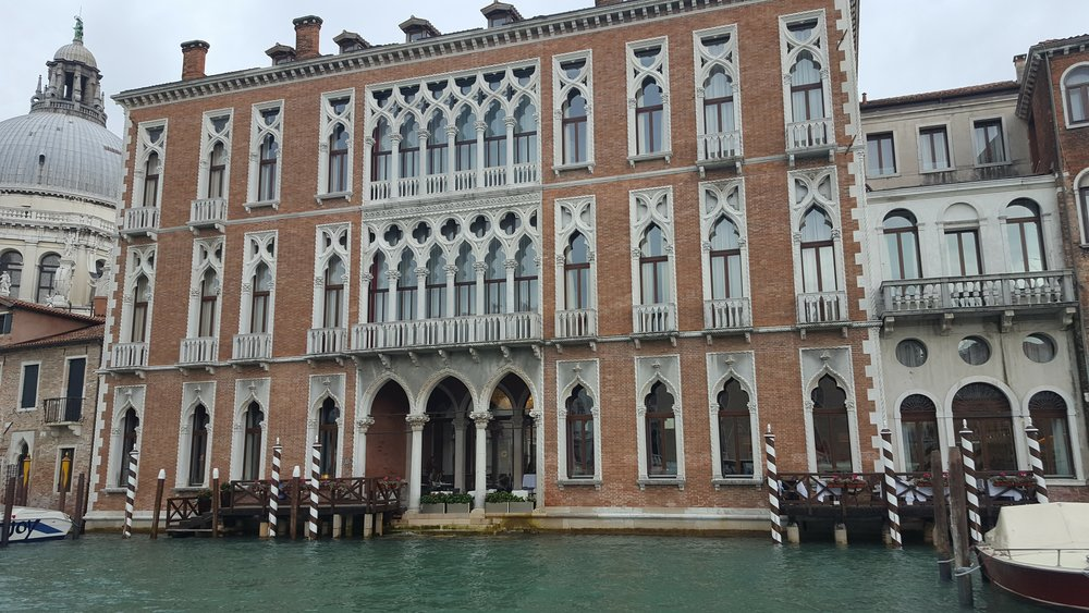 Ornate buildings along the Grand Canal