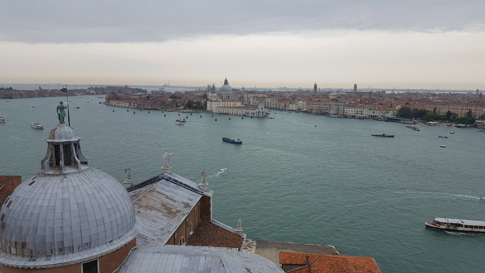 The Campanile di San Giorgio offers the best view in all of Venice