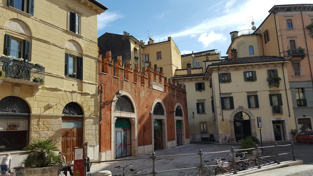 Small piazza in Verona
