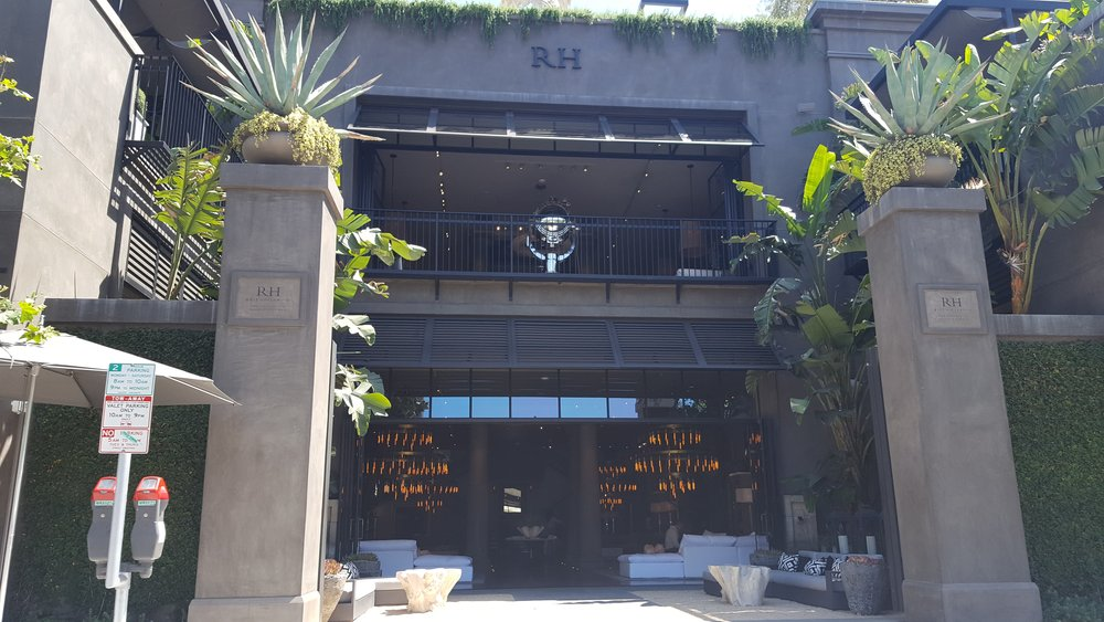 In LA, even the Restoration Hardware is beautiful