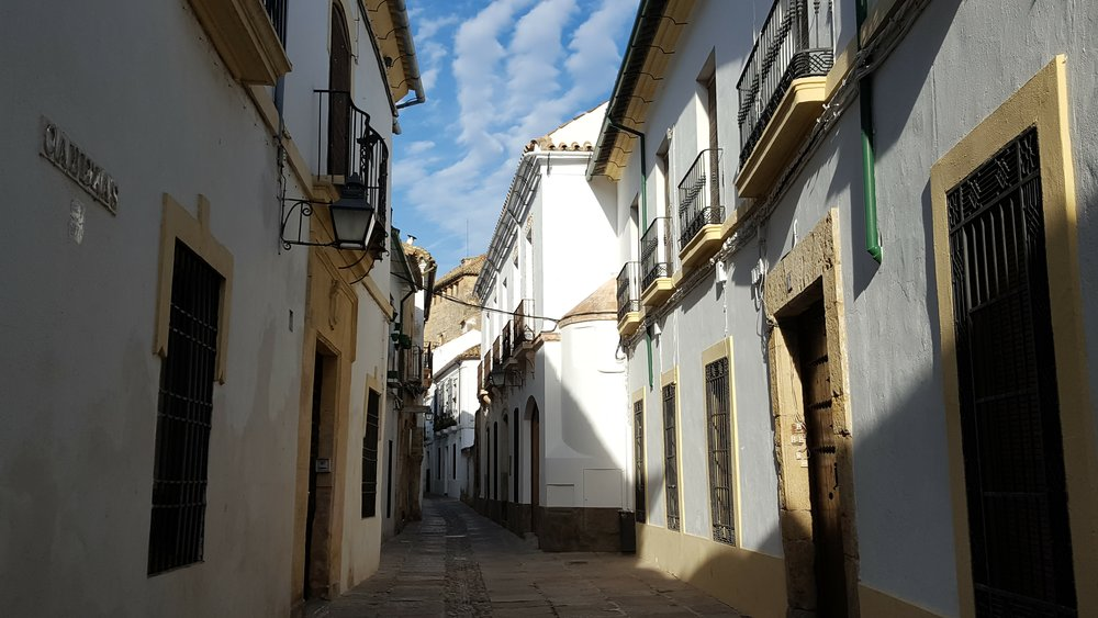 Narrow streets of La Judería in Córdoba