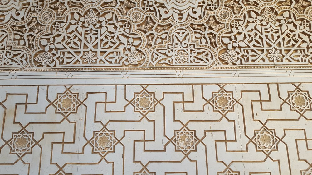 Incredible detail in the Alhambra in Granada