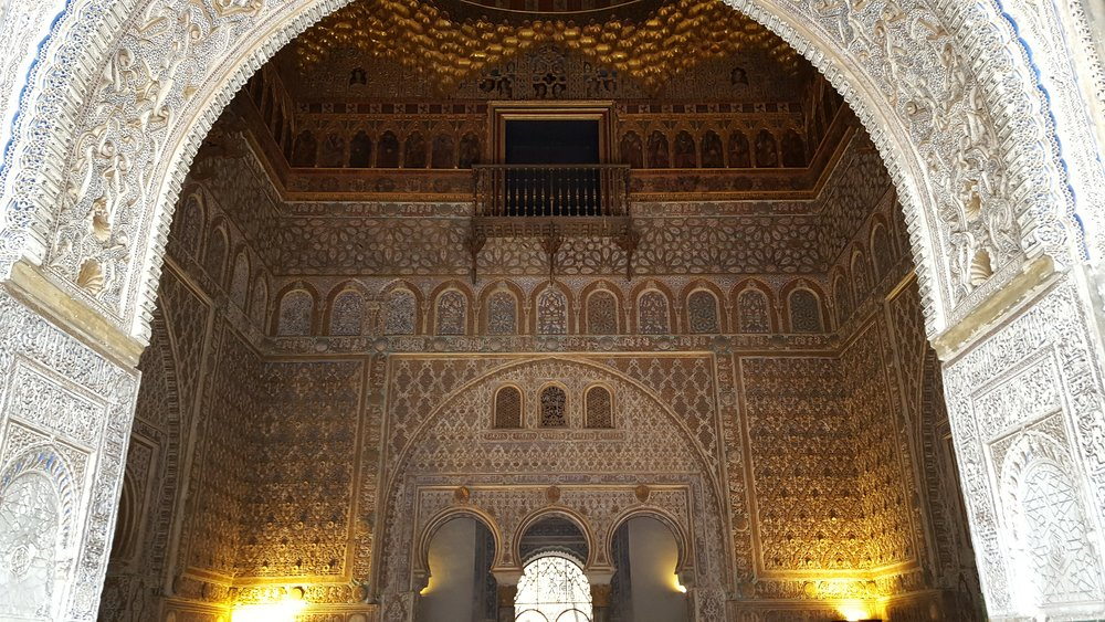 Intricate detail inside the Alcázar