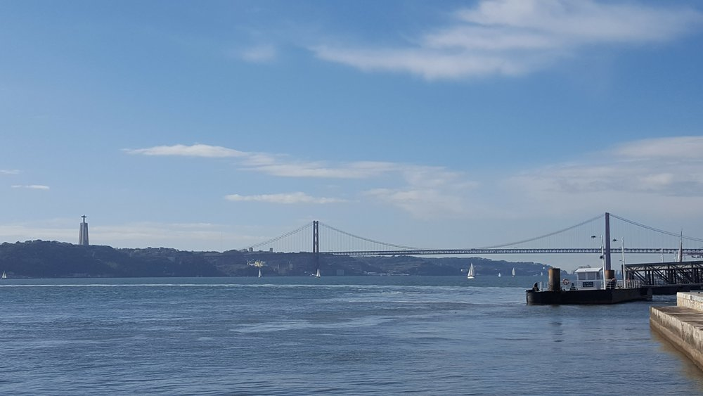 the Tagus Bridge