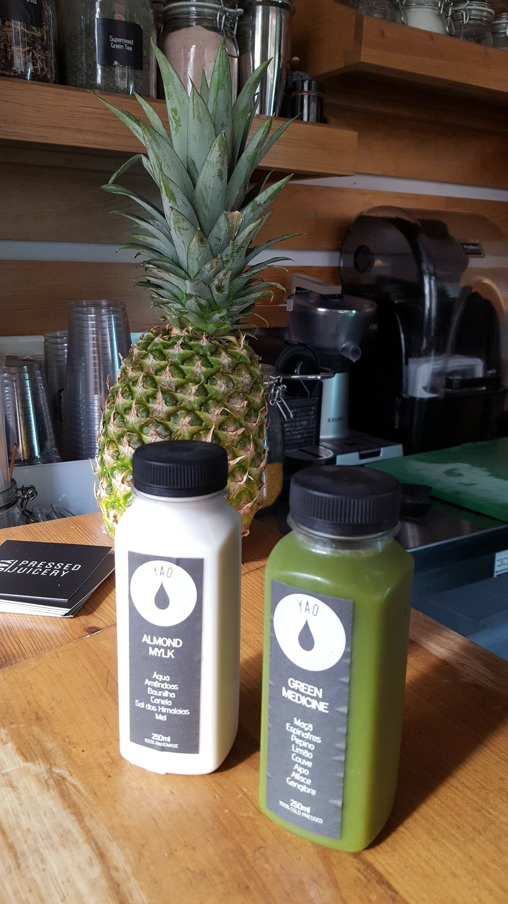 Fresh, cold-pressed juices