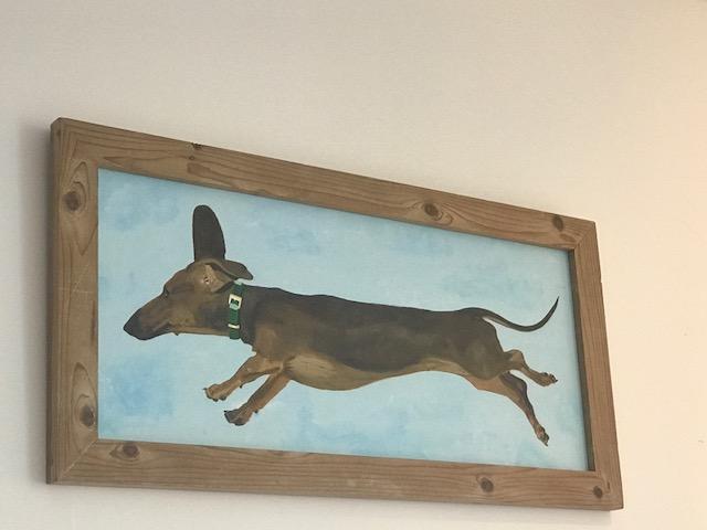 Flying wiener.