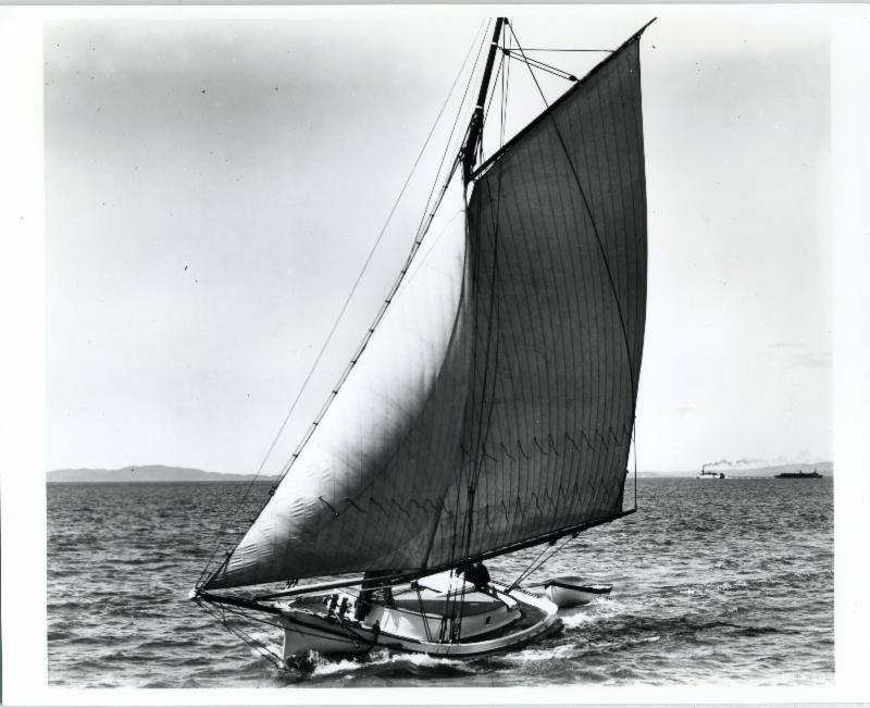 Freda sailing the San Pablo Bay, 1923