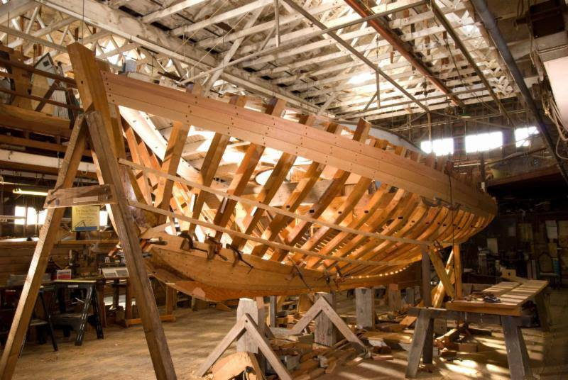 Freda's hull during restoration, 2011
