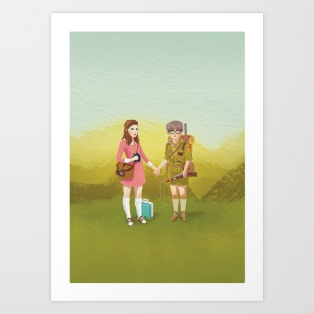Moonrise Kingdom painting by  Roland the Illustrator  on Society6