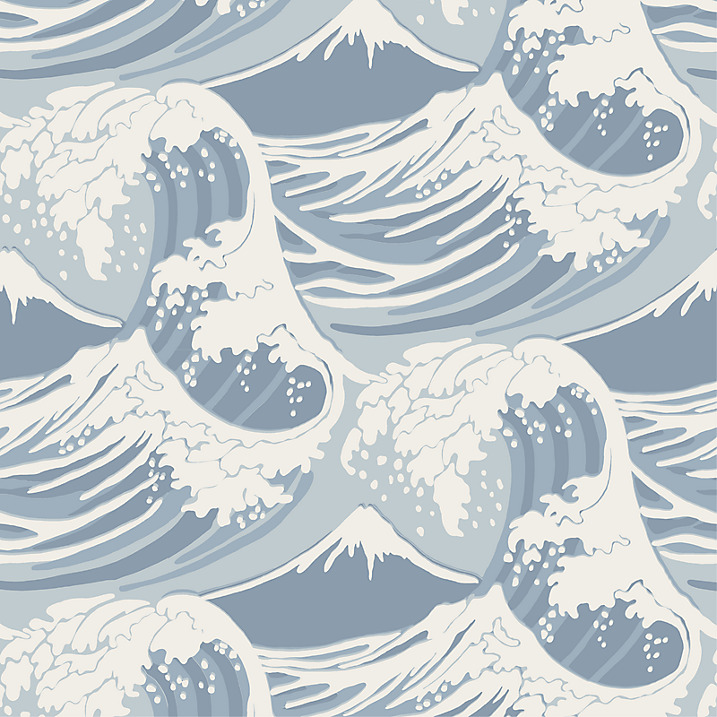 Cole & Sons  Great Waves Wallpaper