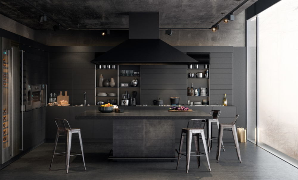 Ideas para aplicar el color negro en la cocina | Entornos ...
