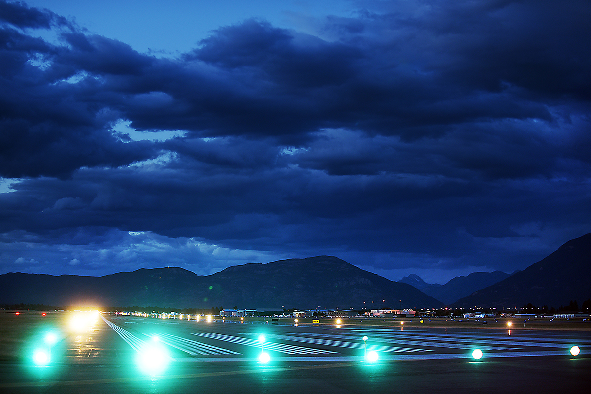 A view of the main runway at Glacier Park International Airport. I am amazed sometimes at all the places my work takes me to...places that most people never get to see.